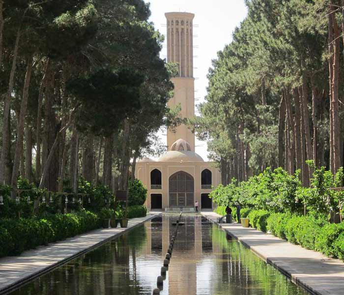 Persian Garden of Dowlatabad in Yazd