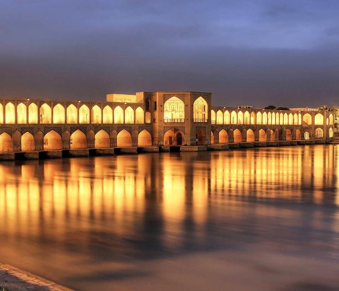 Si o Se Pol bridge - bridge of 33 arches Iran