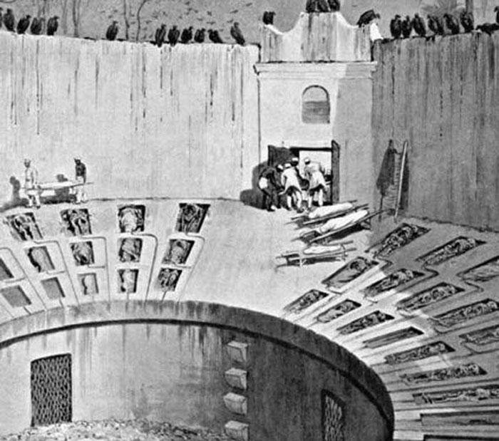 Zoroastrian tower of silence - schematics